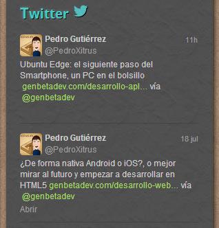 Personaliza los widgets de Twitter.